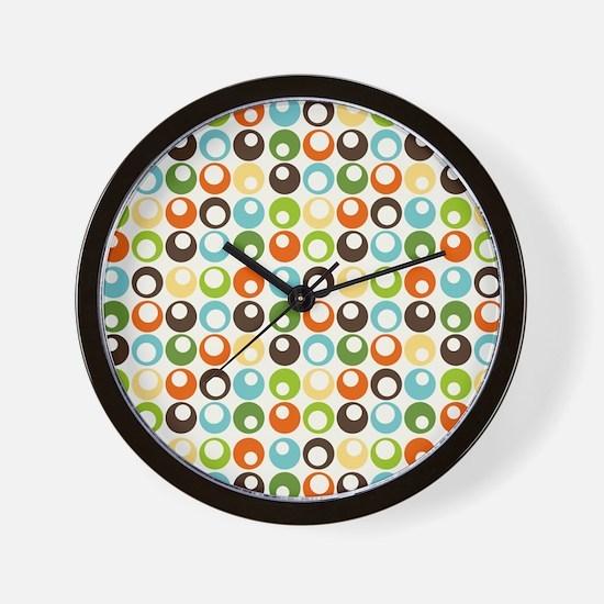 Retro Mod Abstract Circles Wall Clock