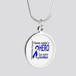 Colon Cancer HeavenNeededHer Silver Round Necklace