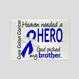 Colon Cancer HeavenNeededHero1.1 Rectangle Magnet