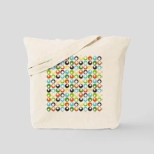 Retro Mod Abstract Circles Tote Bag