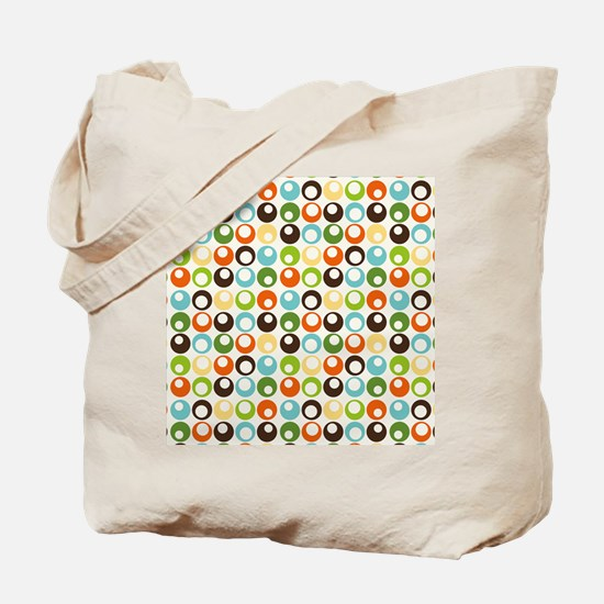 Retro Mod Abstract Circles Tote Bag