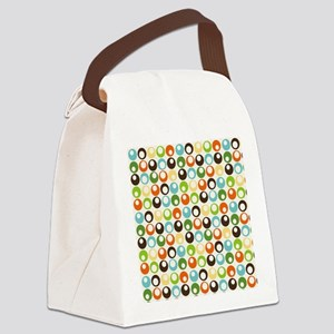 Retro Mod Abstract Circles Canvas Lunch Bag
