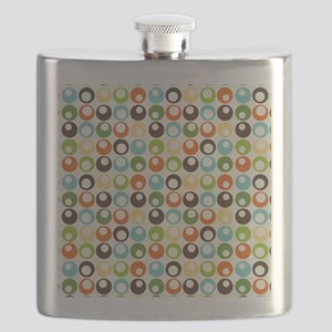 Retro Mod Abstract Circles Flask