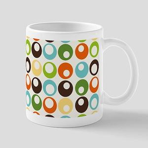 Retro Mod Abstract Circles Mug