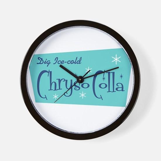 Chryso-Colla Wall Clock