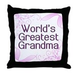 World's Greatest Grandma Throw Pillow