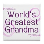 World's Greatest Grandma Tile Coaster