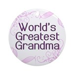 World's Greatest Grandma Ornament (Round)