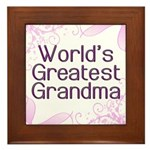 World's Greatest Grandma Framed Tile