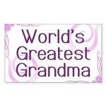 World's Greatest Grandma Sticker (Rectangle)