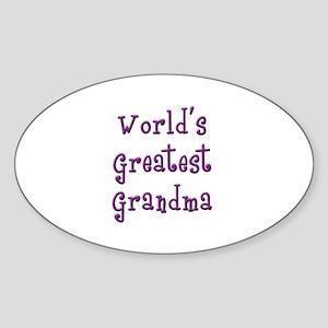 World's Greatest Grandma Sticker (Oval)