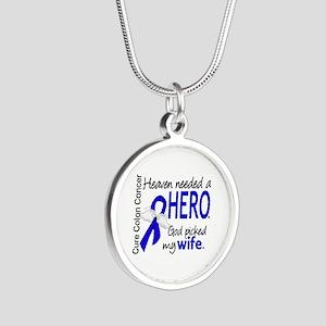 Colon Cancer HeavenNeededHer Silver Round Necklace