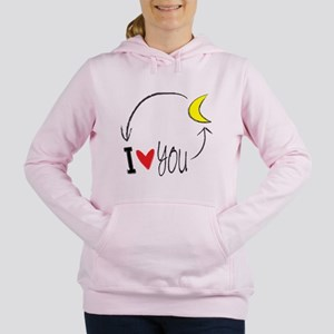 I love you to the moon and back Women's Hooded Swe