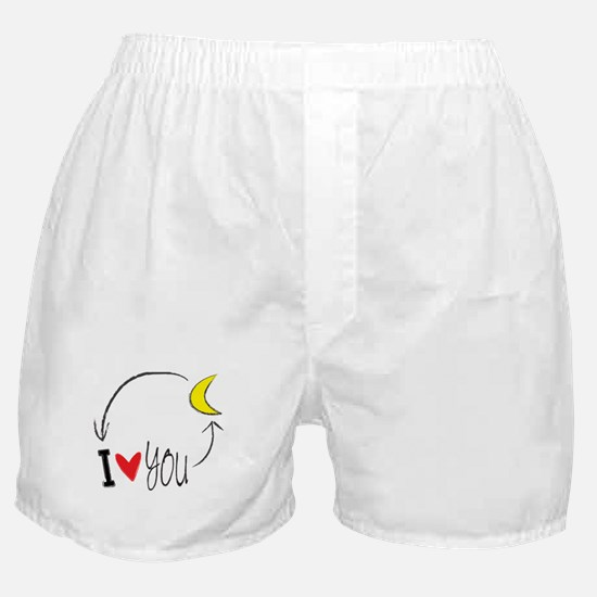 I love you to the moon and back Boxer Shorts