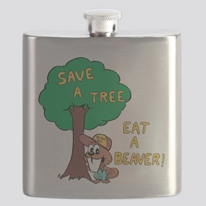 Save a Tree, Eat a Beaver Flask