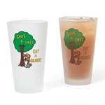 Save a Tree, Eat a Beaver Drinking Glass