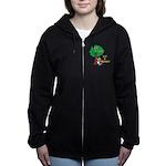 Save a Tree, Eat a Beaver Women's Zip Hoodie