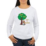 Save a Tree, Eat a Beaver Long Sleeve T-Shirt
