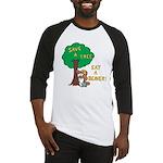 Save a Tree, Eat a Beaver Baseball Jersey