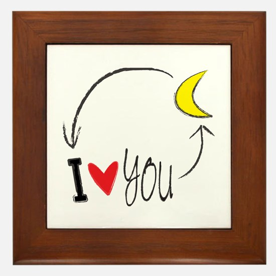 I love you to the moon and back Framed Tile