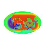 Nanoworld Oval Car Magnet