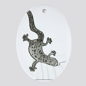 gecko Oval Ornament