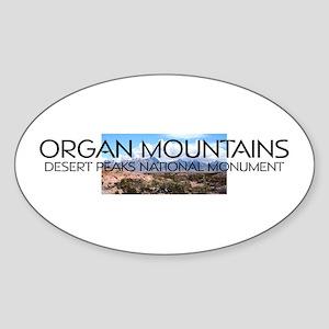 ABH Organ Mountains Desert Peaks Sticker (Oval)