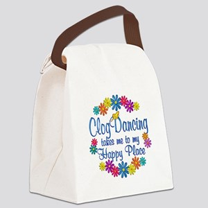 Clog Dancing Happy Place Canvas Lunch Bag