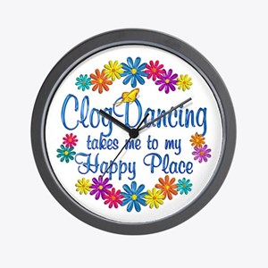 Clog Dancing Happy Place Wall Clock