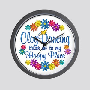 Clog Dancing Happy Place Wall Clock