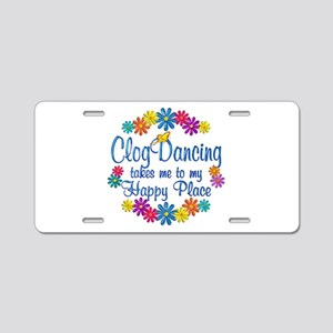 Clog Dancing Happy Place Aluminum License Plate