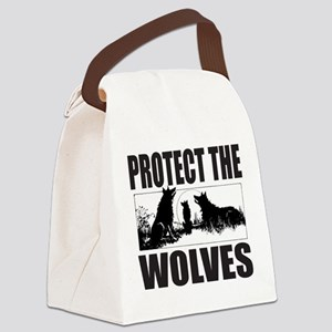 PROTECT THE WOLVES Canvas Lunch Bag
