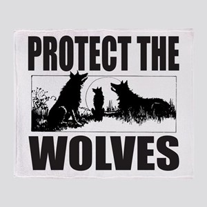 PROTECT THE WOLVES Throw Blanket