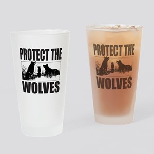 PROTECT THE WOLVES Drinking Glass