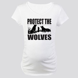 PROTECT THE WOLVES Maternity T-Shirt