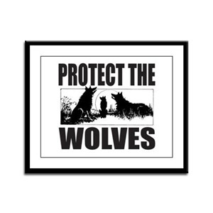 PROTECT THE WOLVES Framed Panel Print