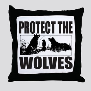PROTECT THE WOLVES Throw Pillow