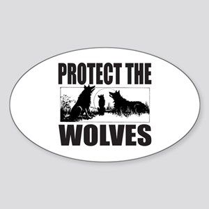 PROTECT THE WOLVES Sticker (Oval)