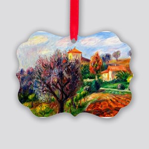 Glackens - Hillside with Olive Tr Picture Ornament