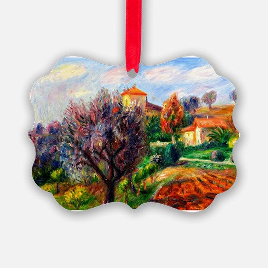Glackens - Hillside with Olive Tr Ornament