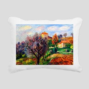 Glackens - Hillside with Rectangular Canvas Pillow