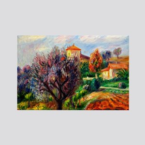Glackens - Hillside with Olive Tr Rectangle Magnet