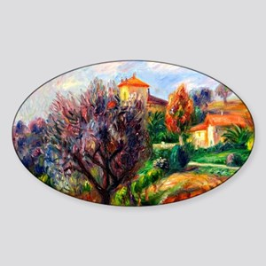 Glackens - Hillside with Olive Tree Sticker (Oval)