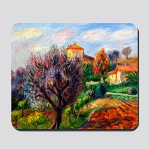 Glackens - Hillside with Olive Trees Mousepad