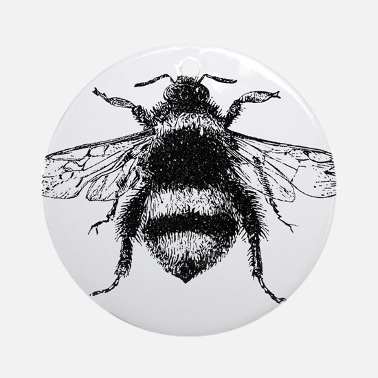 Vintage Honey Bee Ornament (Round)
