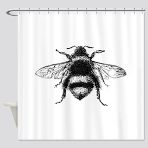 Vintage Honey Bee Shower Curtain