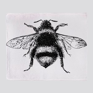 Vintage Honey Bee Throw Blanket