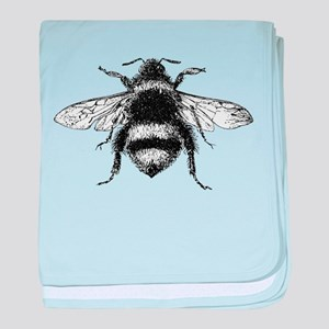 Vintage Honey Bee baby blanket