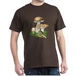 Snail in Mushroom Garden Dark T-Shirt