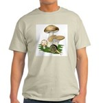 Snail in Mushroom Garden Light T-Shirt